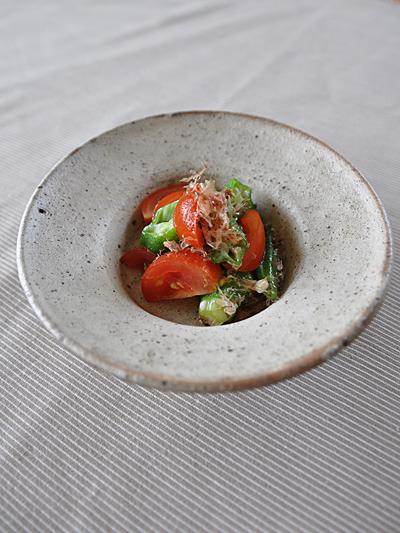 オクラとプチトマトのナムル