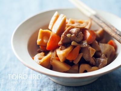 お弁当や常備菜に★レンコンと鶏肉の煮物と、今日のレシピ