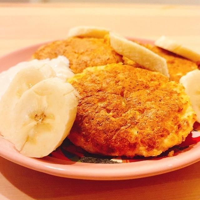 【糖質制限】小麦粉・乳製品不使用!オートミールと豆腐でふわふわスフレパンケーキ