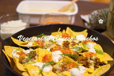 手作りサルサ・チーズ・サワークリームでベジ・ナチョス☆ナチュラルダイエット・レシピ