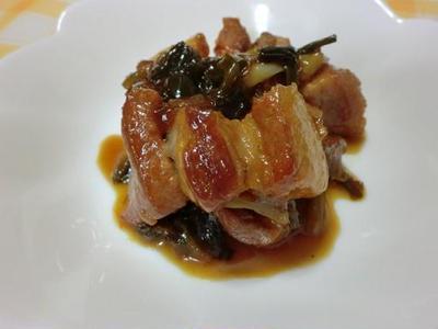 豚バラ肉のマーマレード煮