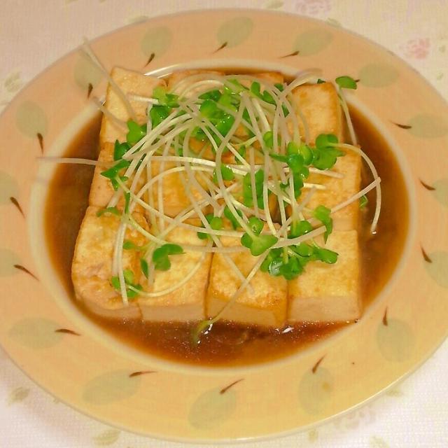 お豆腐のステーキ