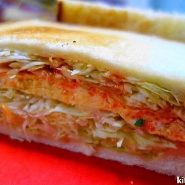 韓国風屋台サンド☆パンとキャベツに味をしみ込ませるレシピ