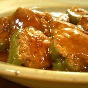 中華風ピーマンの肉詰め