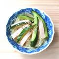 簡単常備菜レシピ。きゅうりとハムの中華春雨サラダ