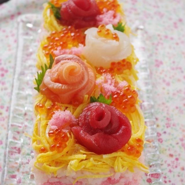 牛乳パックで作る!ひな祭りのちらし寿司ケーキ