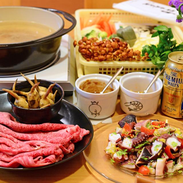 12月28日 月曜日 ピーナッツだれのクレソン牛しゃぶ&太麺醤油焼きそば
