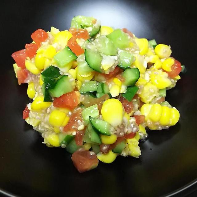 トウモロコシのコロコロサラダ