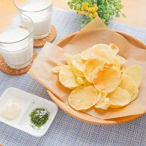 レンジでパリパリ!うまうま「ポテトチップス」レシピ