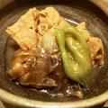 厚揚げと茄子の煮物とサバの塩焼き