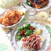 アヒポキ丼とハワイアンディナーの日