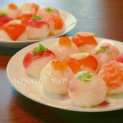 簡単な酢飯レシピ❤桃の節句に手まり寿司