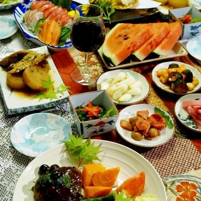 続・20日の晩酌メニューメイン料理②【真竹の子入り夏バーグとお料理の全貌編です♪】
