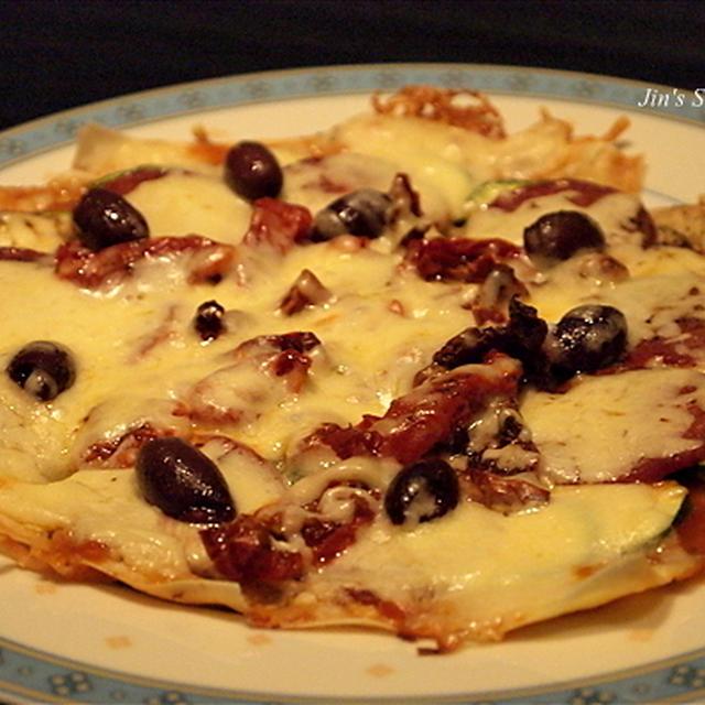 ワンタンの皮でピッツァ(ピザ)