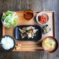 【エダジュン食堂】揚げなすと豚肉の梅肉和え定食