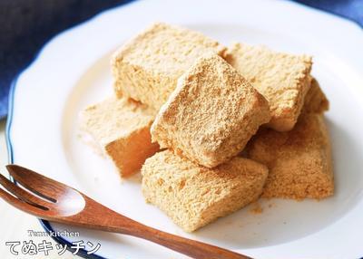 【超簡単】揚げてないのに揚げたみたいになる!食パンで作る『きな粉揚げパン』の作り方