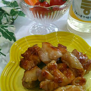 ミツカン『カンタン酢』で鶏の甘酢照り焼き、絵の具セット、お友達がうちへ。