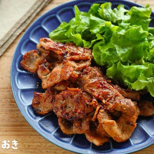 豚肉のガーリック醤油ソテー