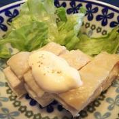蒸し鶏の七味マヨソース