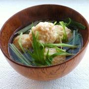 えのき入り鶏団子と水菜のスープ