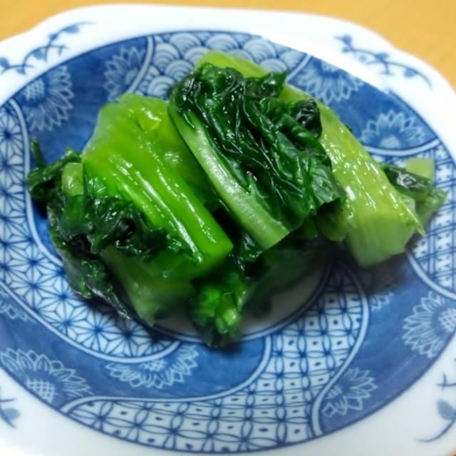 きのうのおつまみ  青菜の浅漬け