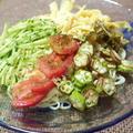 夏休みのランチにいかが?<夏野菜だらけの冷やし中華> by はらぺこ準Jun(はーい♪にゃん太のママ改め)さん