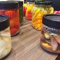 ピクルス・バジルの塩漬け・ドライトマトと保存品作り・・・・・ by pentaさん