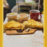 今日の朝活!5時後半起床、頂いたポテトーストでクロックムッシュ風〜♪朝筋トレ〜