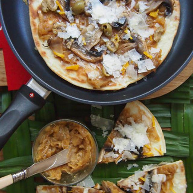 World Happy Recipe_柚子とマンゴーチャツネのピザ