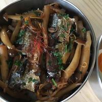 秋刀魚としめじのしぐれ煮弁当