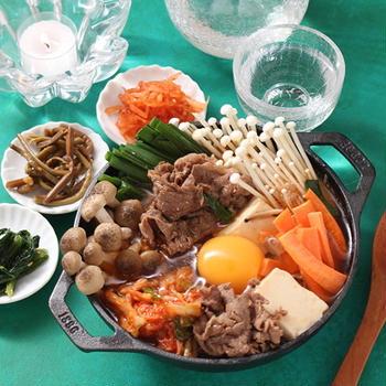 牛肉と豆腐のチゲ