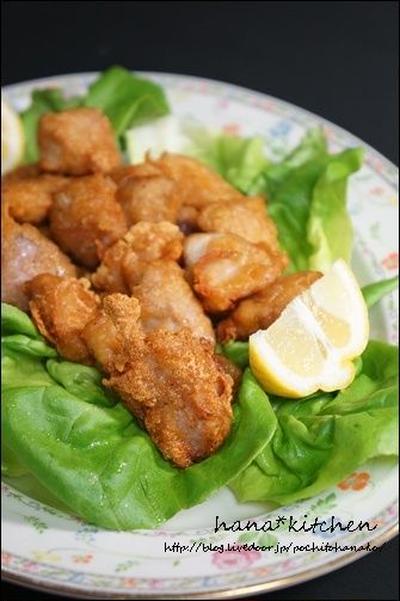【簡単レシピ】サイコロ豚のから揚げ。