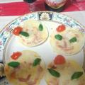 餃子の皮で宇宙神ミニピザ by たーぼのははさん