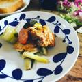 フライパン1つで☆鶏むね肉のバルサミコ酢ソテー~野菜添え~