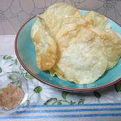 クミン塩と餃子の皮のチップス