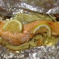 時短レシピ2品。えのきと鮭のホイル焼き&キャベツのホットバルサミコサラダ