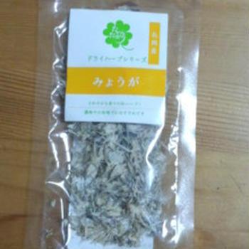 新潟で見つけた乾燥野菜「みょうが」