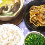 昨日の夕飯(11/21):肉きんぴら他