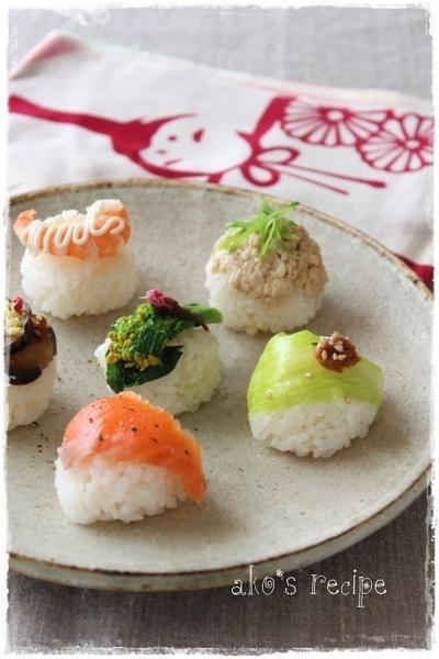 もうすぐひなまつり!6種の手まり寿司と、カラフルカップ寿司