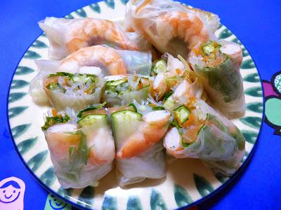 【シャキシャキレシピコンテスト】海老とサーモンのシャキシャキ生春巻き〜塩レモン風味