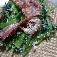 小松菜とベーコンのサラダ(レシピ)