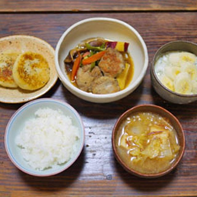 鶏団子と野菜の煮物