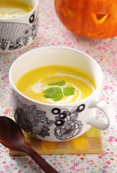 ジャックオランタンとかぼちゃのスープ