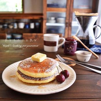 パンケーキでほっこりおうちカフェ気分