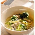 牡蠣とブロッコリーのスープスパ by PROUDさん