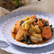 残り物野菜でOK!鮭のちゃんちゃん焼き風