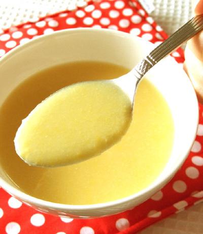 オイル不使用! とうもろこしの冷製スープ