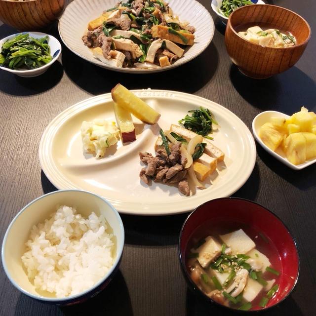 WED 08/26/2020【幼児食】牛肉と厚揚げ豆腐とニラのスタミナ炒め