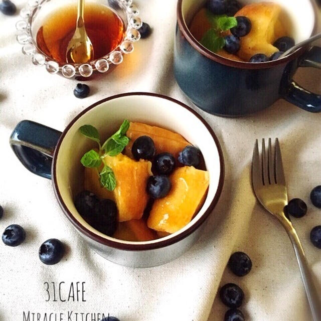 ♡電子レンジde超簡単♡マグカップフレンチトースト♡【簡単*時短*節約*カフェ*朝食*おやつ】