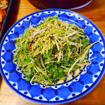 水菜のエスニックサラダ